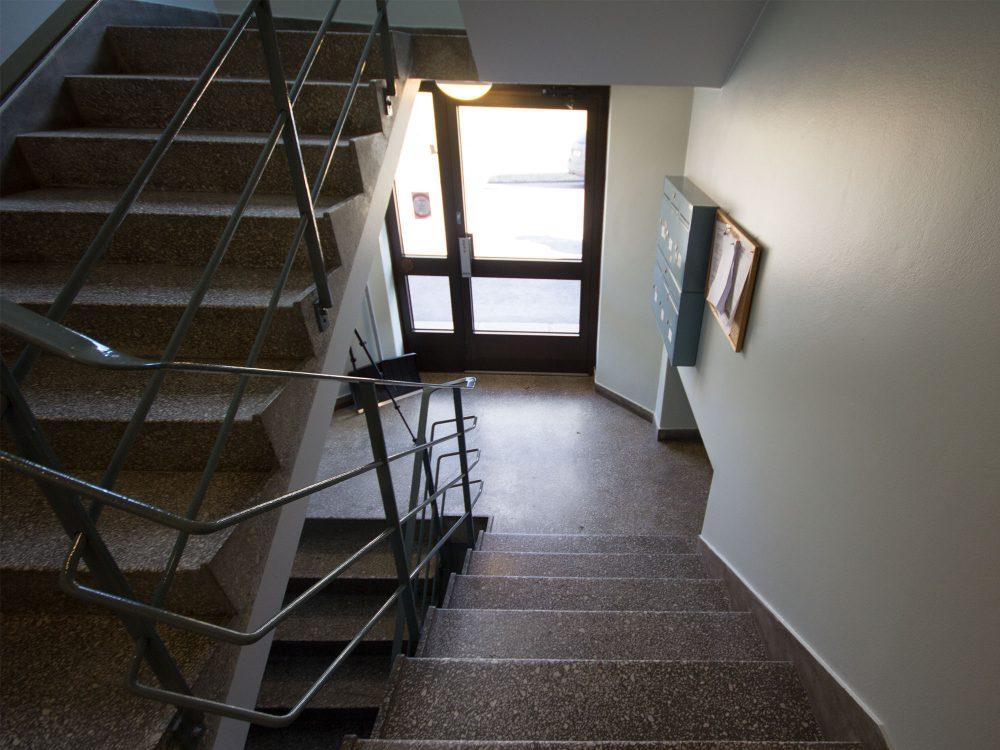 Trappeoppgang på innsiden